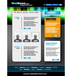 Modern and futuristic website vector