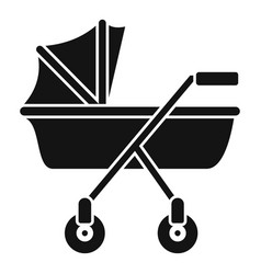 New baby carriage icon simple style vector