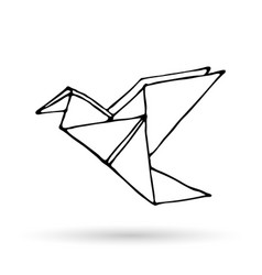 Origami doodle simple icon vector