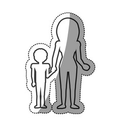 outlined people family unity vector image