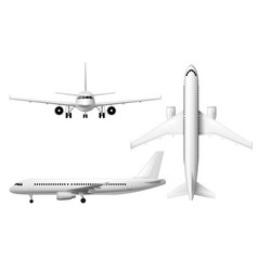 plane airplane realistic aircraft aeroplane model vector image