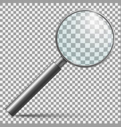 realistic magnifier magnifying glass lens or vector image