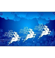 Reindeer pulling Sledge vector