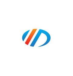 round ovale stripe line logo vector image