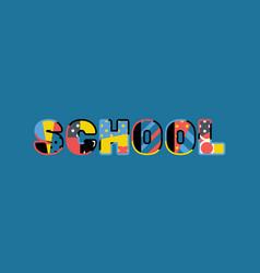 School concept word art vector