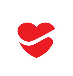 simple heart vector image