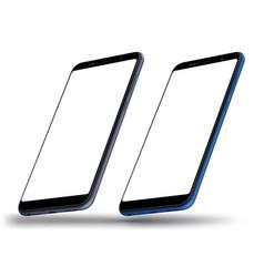 smartphone mockups vector image