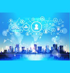 Social business communication internet network vector