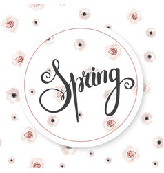 spring background with beautiful flowers vector image
