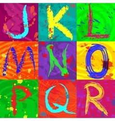 The abstract text effect in bright colors vector