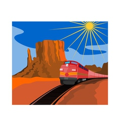 Train in Desert vector