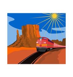 Train in Desert vector image