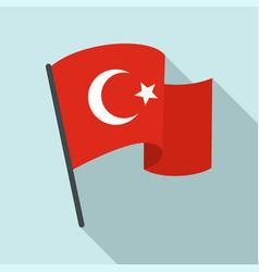 Turkey flag icon flat style vector