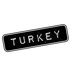 Turkey rubber stamp vector