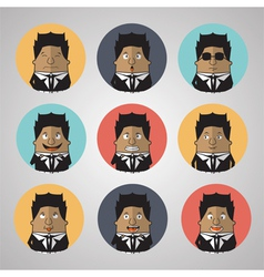 Vintage businessman emotion vector