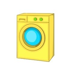 Washing machine icon cartoon style vector