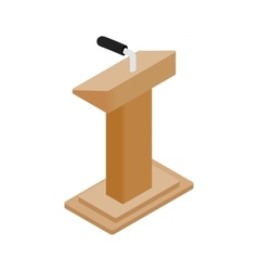 Wooden podium tribune rostrum stand vector image