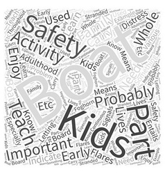 Boating for Kids Word Cloud Concept vector image vector image