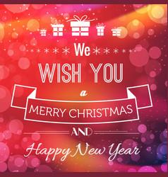 christmas greeting poster vector image vector image