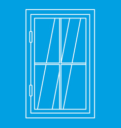 Closed window icon outline vector