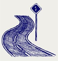 Curve road vector image vector image