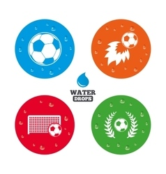 Football icons Soccer ball sport vector image