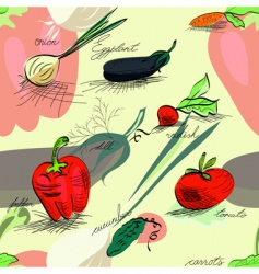 wallpaper with vegetables vector image