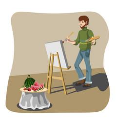 artist drawing still life vector image