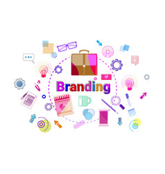 branding creation and products line development vector image vector image