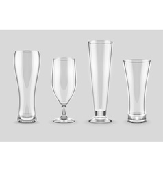 Glasses for beer drinking in vector image