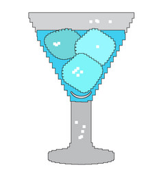 pixelated glass of water vector image