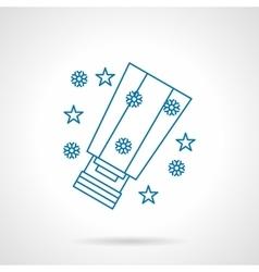 Blue flat line winter sky lantern icon vector image