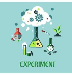 Experiment flat design vector image