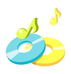 icon cds vector image