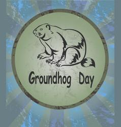 marmot icon groundhog day vector image vector image
