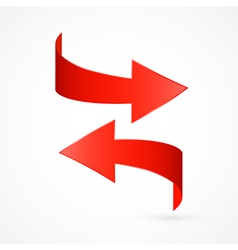 Red Abstract 3d Arrow Icon vector image vector image