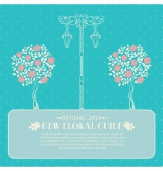 Roses with street light vector image vector image