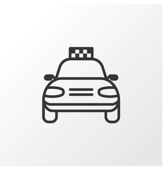 taxi icon symbol premium quality isolated car vector image