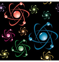 background with symbol of atom vector image