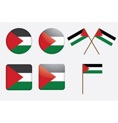 badges with flag of Palestine vector image