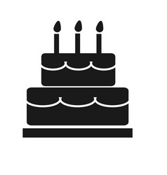 cake icon on white background cake sign vector image