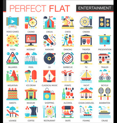 entertainment complex flat icon concept vector image vector image