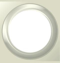Frame porthole on white background vector image vector image