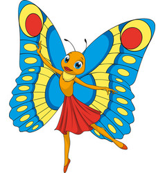 little beautiful butterfly vector image