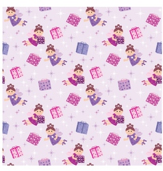 seamless fairy pattern vector image