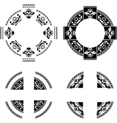 set of fantasy rings vector image vector image