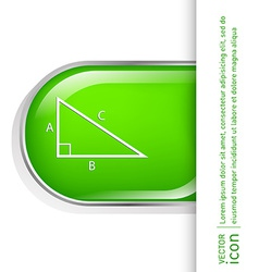 triangle math symbol icon geometry learning math vector image vector image