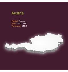 3d map of austria vector image