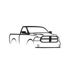 4th gen ram single cab sport hood silhouette vector