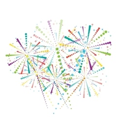 Abstract fireworks wallpaper vector image